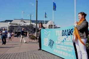 Svenska Tuidang-centret informerade på Drottningtorget i Göteborg